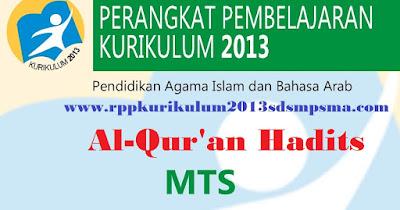 RPP Qur'an Hadits, Silabus Qur'an Hadits, Program Tahunan (Prota) Qur'an Hadits, Program Semester (Promes) Qur'an Hadits, KKM,