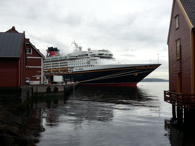 Cruise ship Disney Magic in Bergen, Norway; Fjord cruise; Frozen Cruise