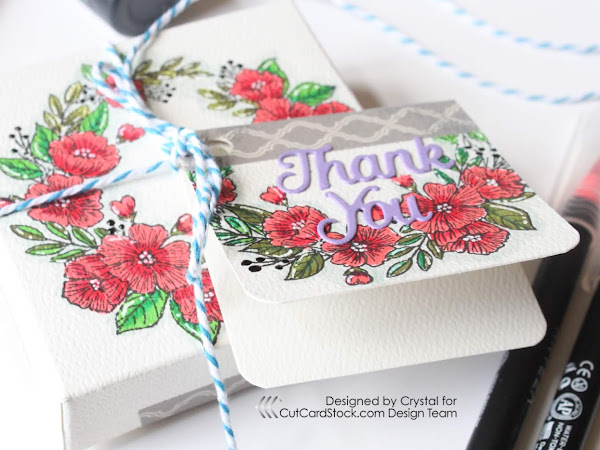Treat Box With Matching Thank You Card