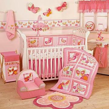 habitación bebé en rosa