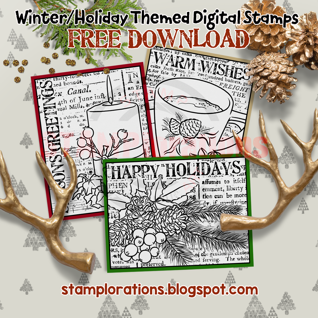 STAMPlorations Free Winter/Holiday Digi Images