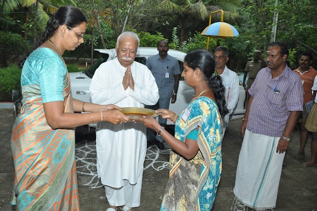 RSS Chief arrives Chennai to participate in All India Executive Council Meeting (ABKM 2012) in Chennai