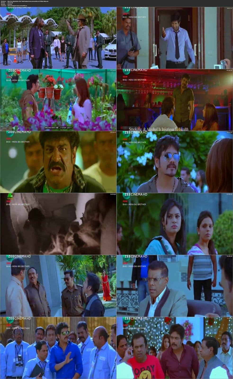 Bhai Mera Big Brother 2017 Dual Audio 300MB DTHRip 480p AT MOVIES500.ME