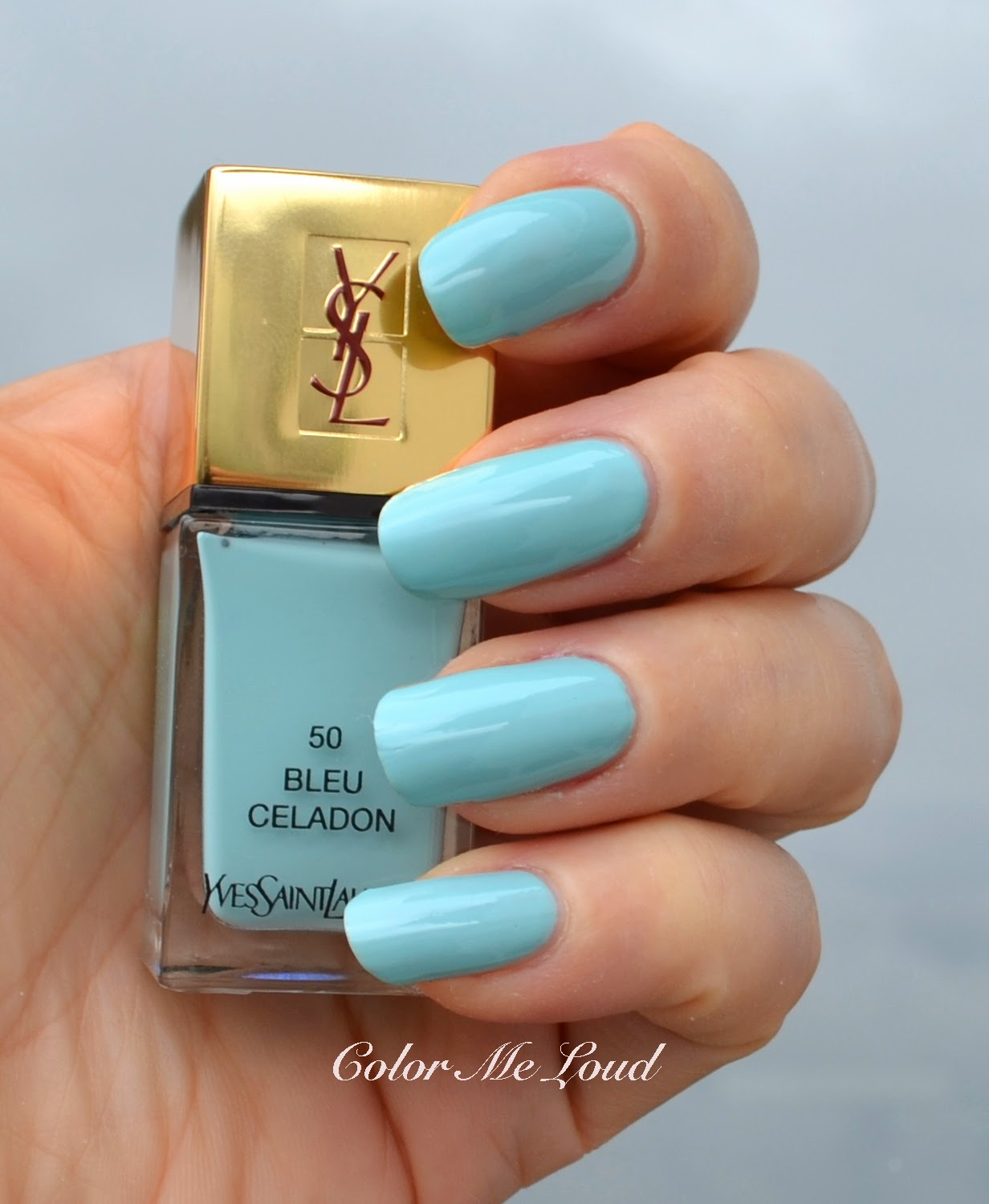 Yves Saint Laurent La Laque Couture 50 Bleu Celadon 51 Bleu Cyclades For Bleus Lumiere Summer