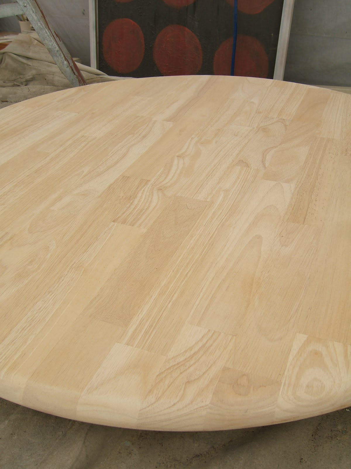 Nine Red School of Restoration Striped Round Table