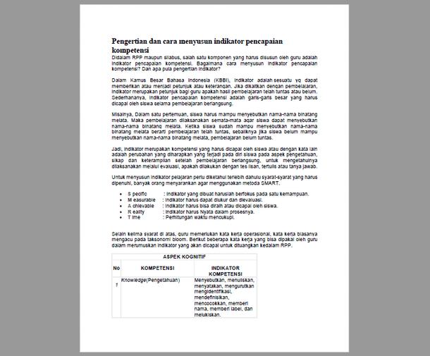Pengertian dan Cara Menyusun IPK (Indikator Pencapaian Kompetensi) SMK Kurikulum 2013