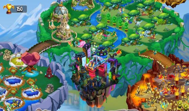 imagen de la isla neo tokyo de dragon city