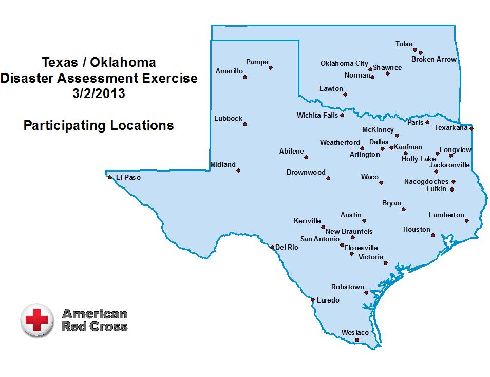 Map Oklahoma Texas | Business Ideas 2013