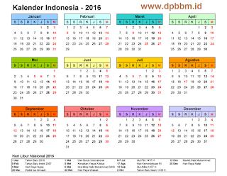 Gambar Foto Kalender 2016
