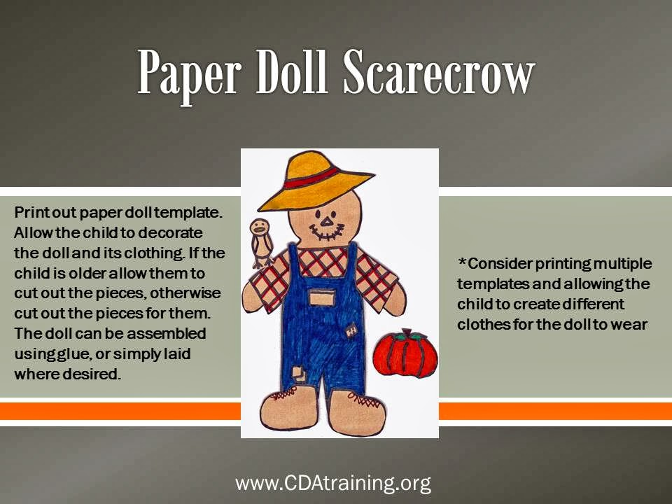 child care basics resource blog paper doll scarecrow