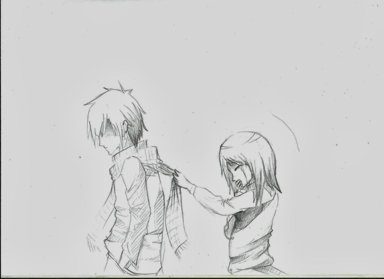 Gambar gambar cute couple sketches draw easy anime sket sketsa