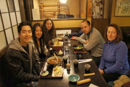 Tokyo - Dinner with our hostel mate Livi and her family