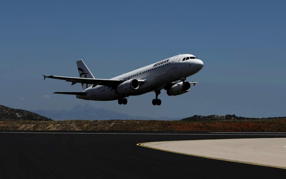 Aegean's passenger traffic up
