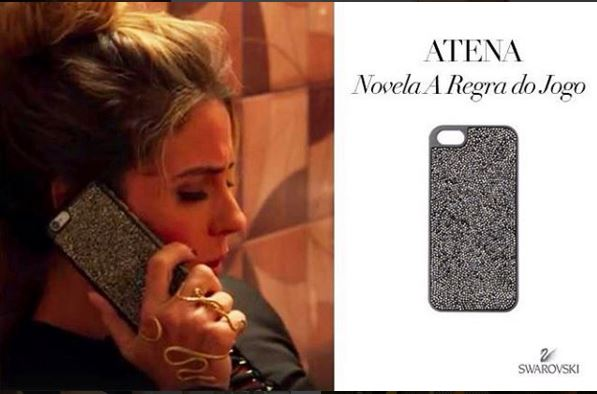 Essa capa de celular é da marca Swaroviski , capa de celular Atena (Giovana Antonelli)
