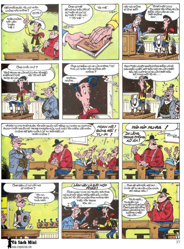 Lucky Luke tap 16 - jesse james hiep si rung xanh trang 39