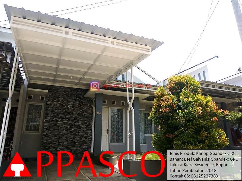 Kanopi Minimalis Atap Spandek di Kiara Residence Bogor