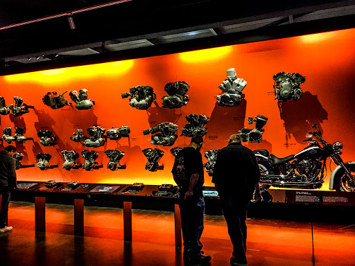 Engines at the Harley Davidson Museum in Milwaukee WI