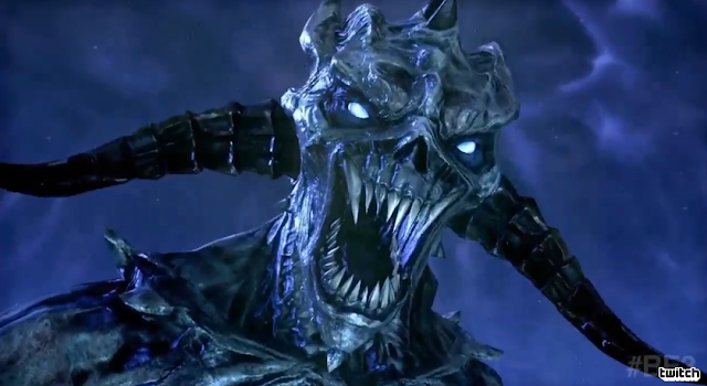 The Elder Scrolls Online Bethesda E3 2016 monster horns blue Daedric Prince Molag-Bal
