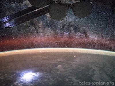 Dünya ve Samanyolu fotoğrafı