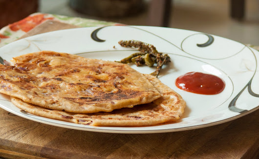 #16 Cheesy Onion Paratha