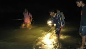 Romi Hilang Saat Ke Sungai Ratusan Orang Sedang Lakukan Pencarian