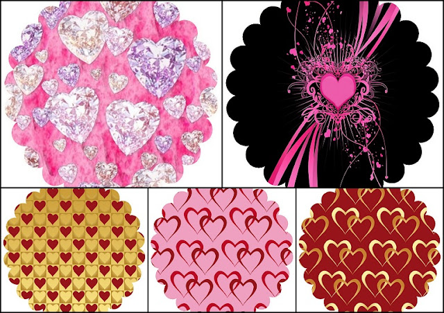 Hearts: Free Printable Labels or Toppers.