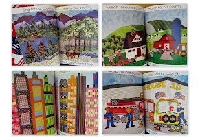 "photo of: Quilted Illustrations to ""Red, White and Blue"" Picture Book by Debbie Clement"