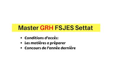 Master Gestion des Ressources humaines (GRH) (FSJES Settat )