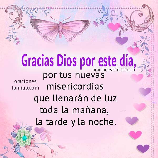 Oración de la mañana, frases cristianas con oraciones pidiendo  las bendiciones de Dios por Mery Bracho.