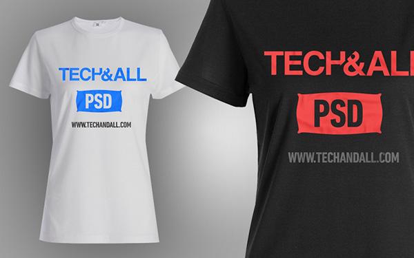 Download T-shirt Mockup PSD Terbaru Gratis - Female T Shirt Mockup v.2 PSD