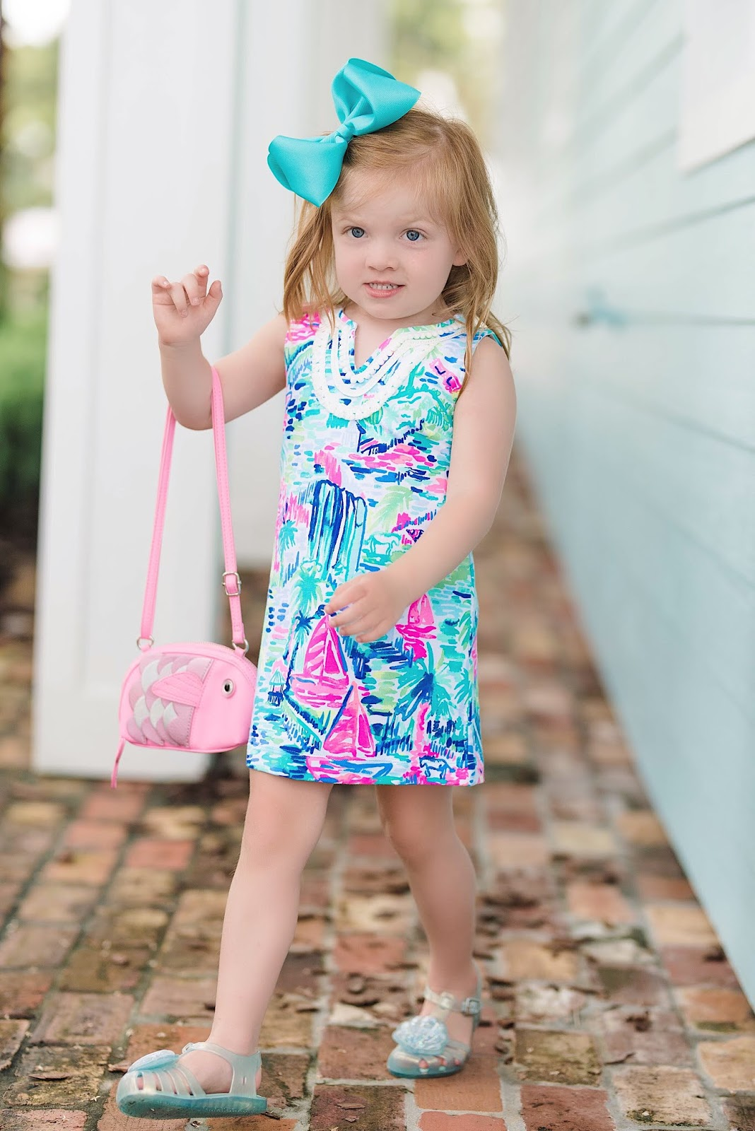 Mommy and Me in Lilly Pulitzer - Multi Salt in the Air - Something Delightful Blog