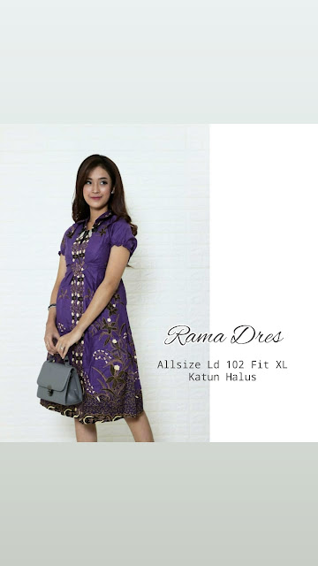 Dress-Batik-Rama-Ungu