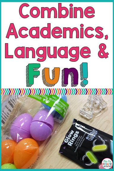 In special education, we often have to teach the same skill over and over. To keep it fresh and engaging, we integrate props for upcoming holidays or themes. Here is a fun way to mix up instruction as we approach Easter.