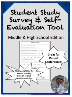 https://www.teacherspayteachers.com/Product/Student-Study-Survey-for-Learning-Evaluation-Parent-Conferences-237882