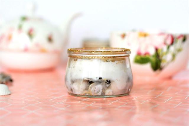 selbstgemachte  Kerze im Glas