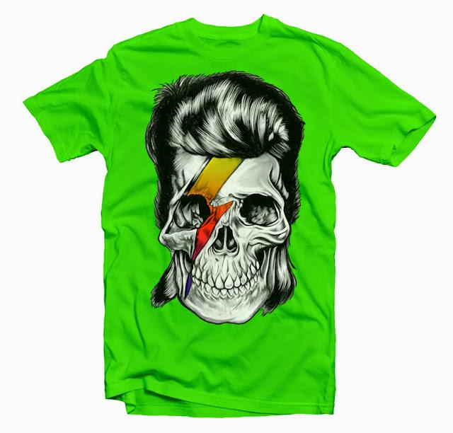 bowie skull tshirt