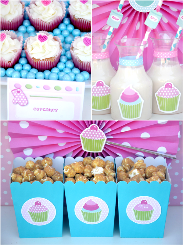A Very Sweet Pink Cupcake Baking Birthday Party Party