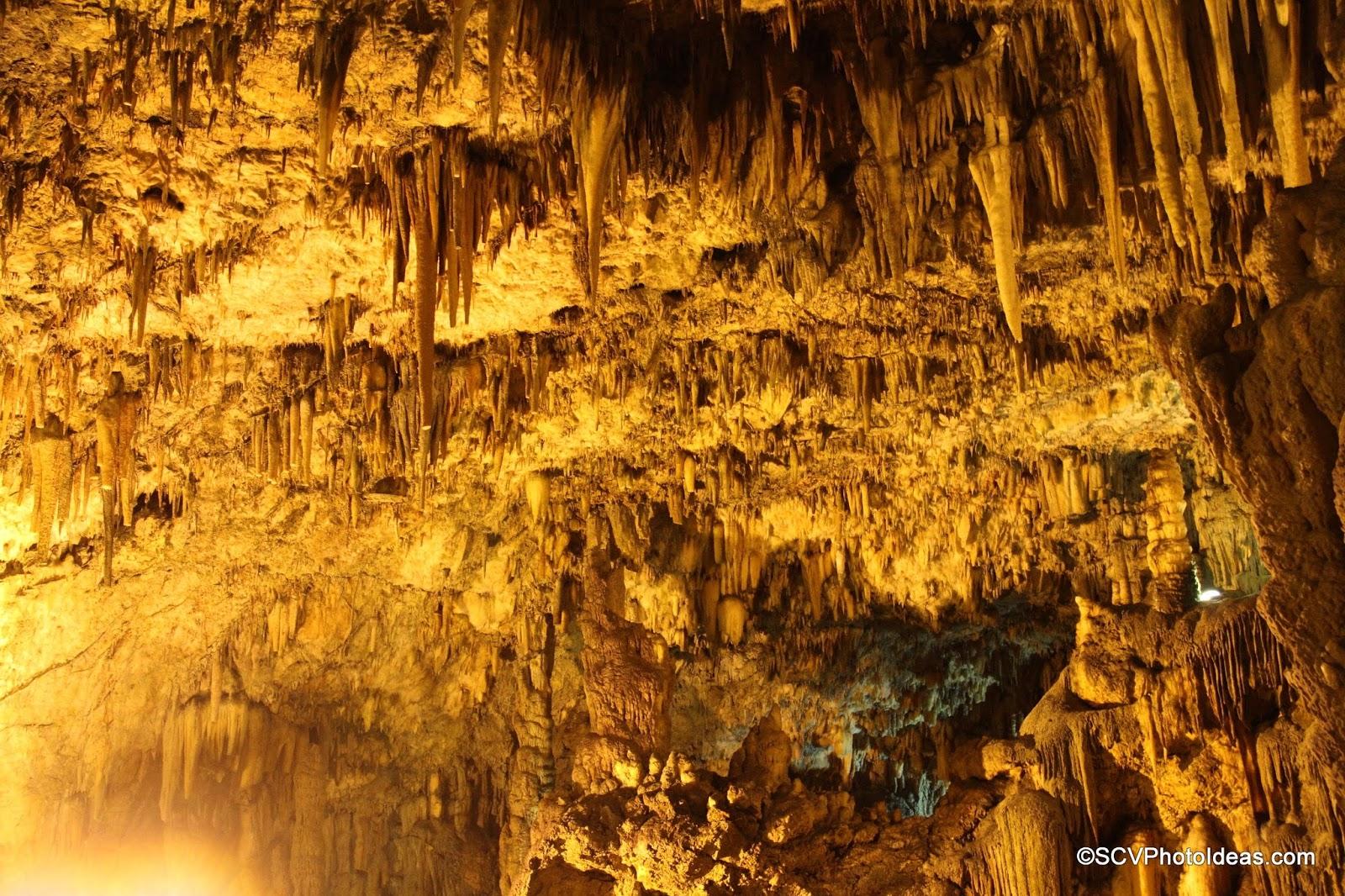 Drogarati Cave main chamber stalactites
