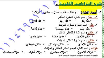 مذكرة العز في اللغة العربية للصف الثاني الابتدائي 2019 ترم تاني