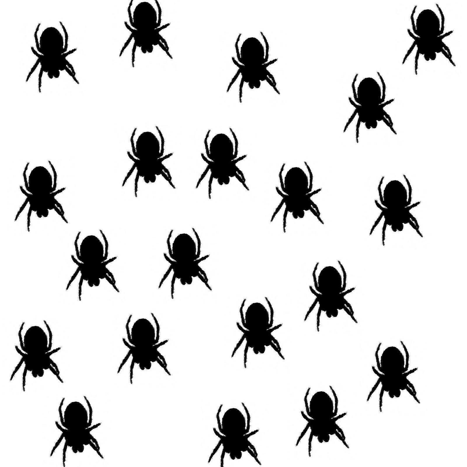 saraccino: Spider shadow stencil