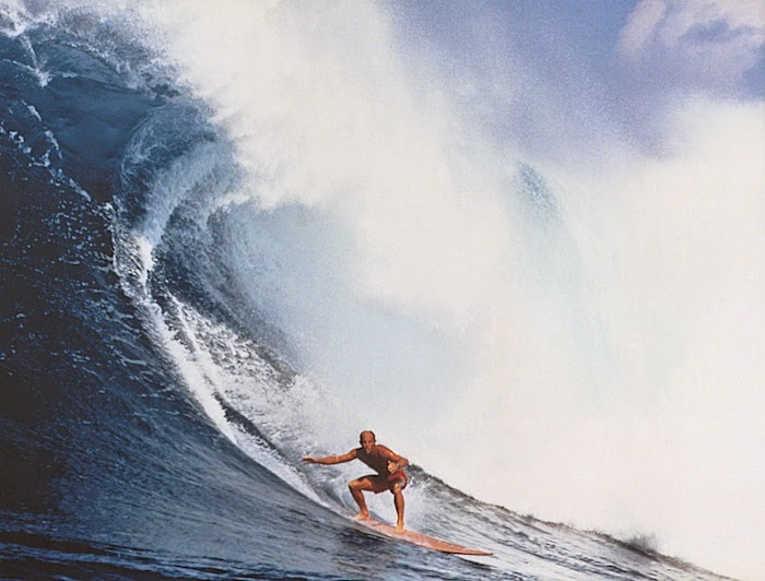 Surfing Heritage Culture Center Those Who Leave Too Soon - Guys sets himself on fire before surfing a huge wave