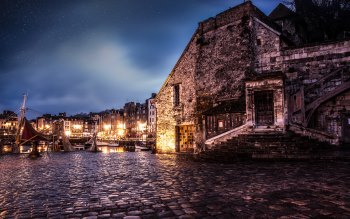 Wallpaper: City. Architecture. Medieval. Honfleur