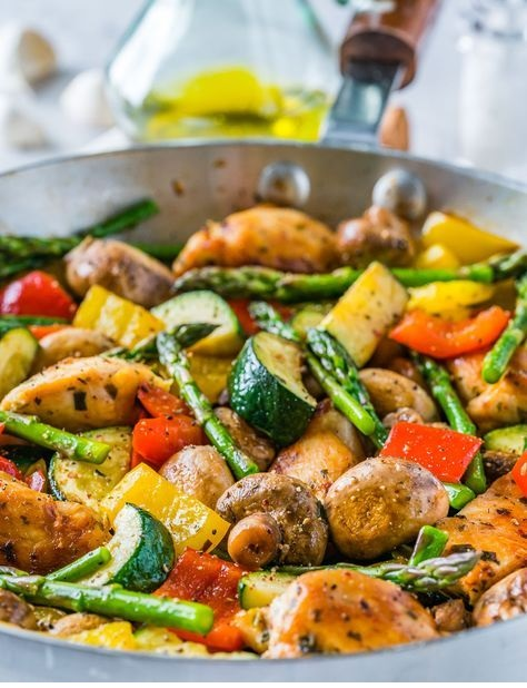 One Pan Italian Chicken Skillet Recipe