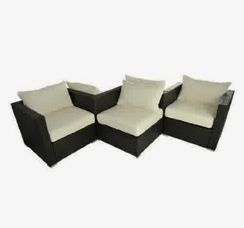 Outsunny 5pc Stylish Outdoor PE Rattan Wicker Patio Sofa Furniture Set