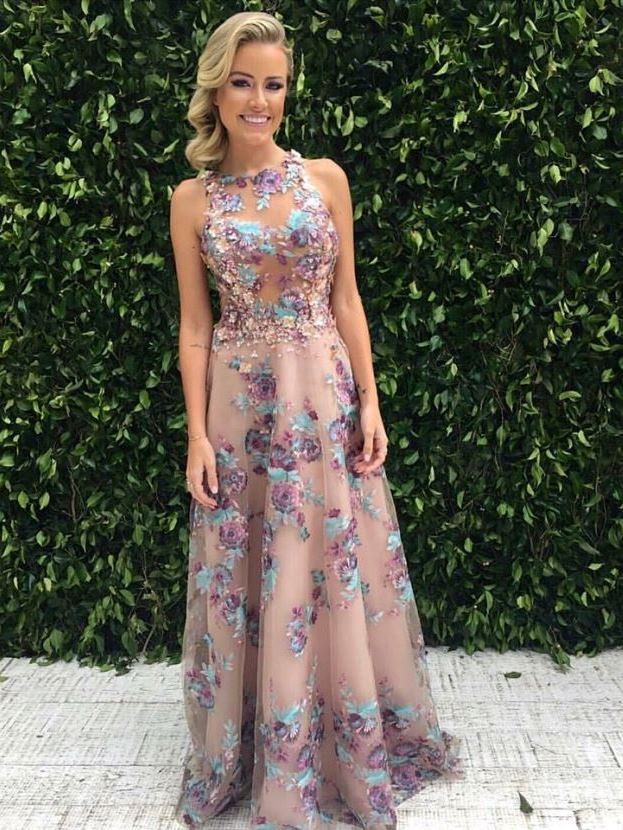 vestido de festa floral patricia bonaldi