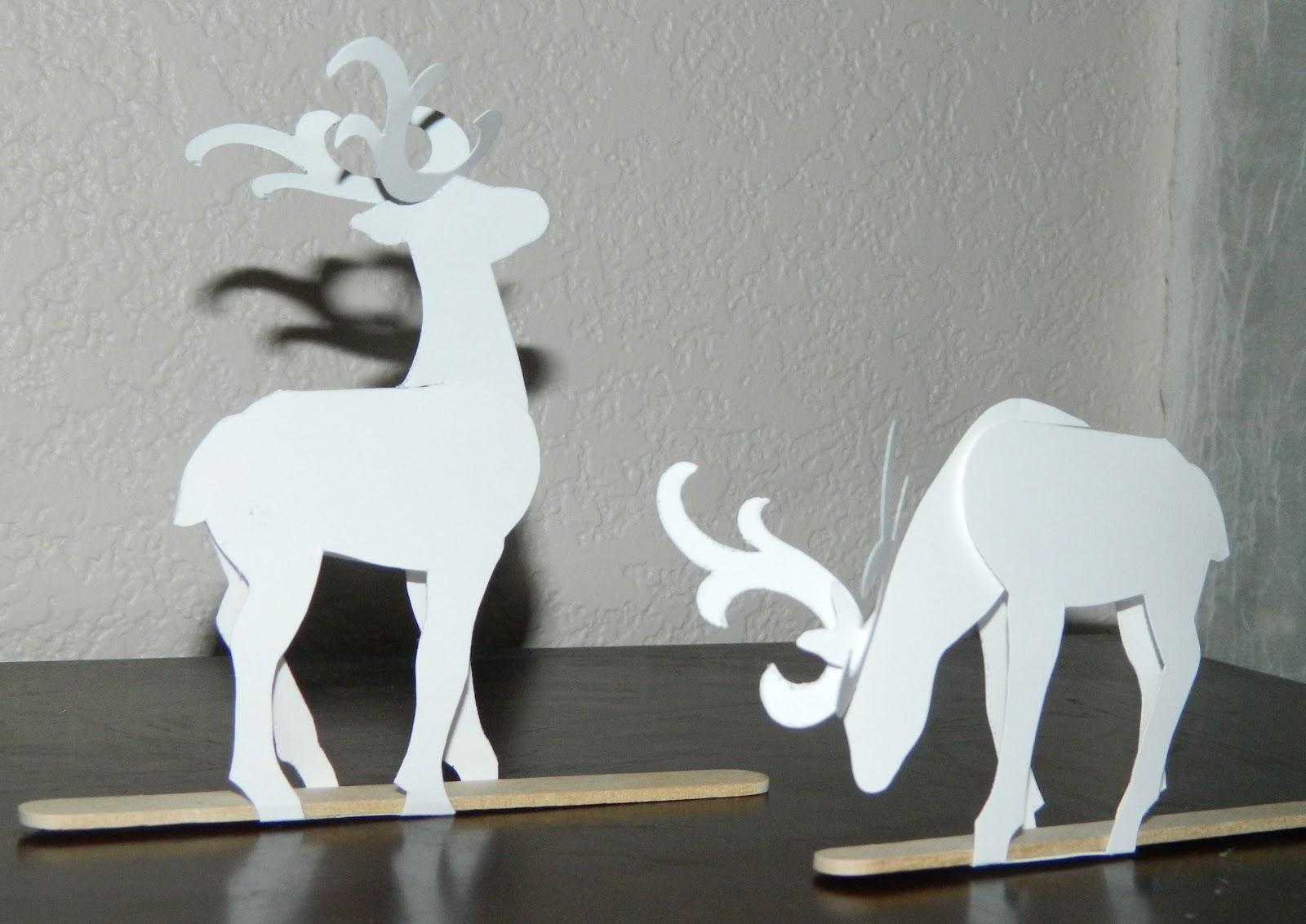 Reindeer Template Head Cardboard