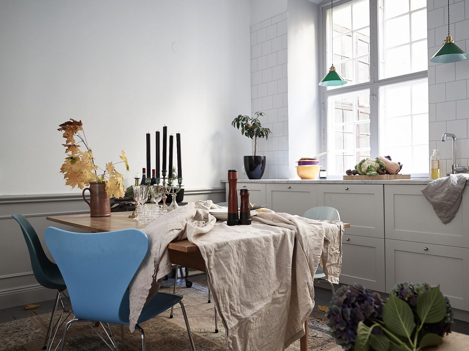 dekorowanie stołu na jesień