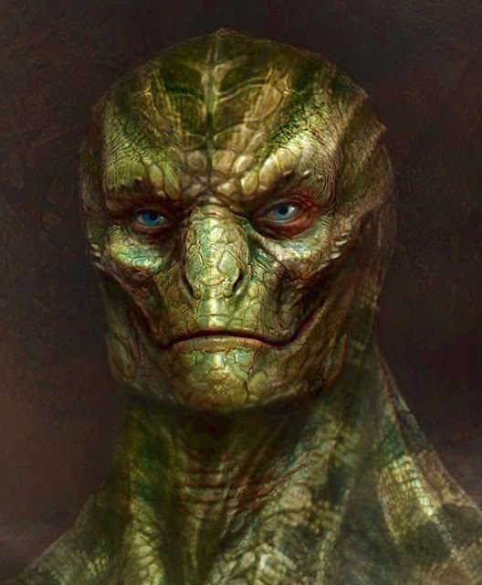 This is what a reptile Alien lizrd person will look like