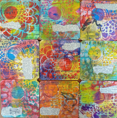 Cards with StencilGirl® Stencils by Frieda Oxenham