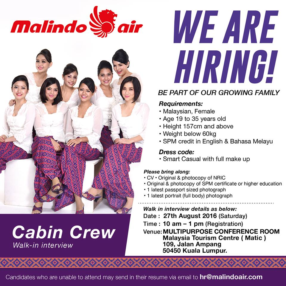 fly gosh malindo air cabin crew recruitment walk in interview od aug malindo air cabin crew recruitment walk 19html apply for stewardess job - Apply For Stewardess Job